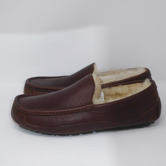 3644d037d9e NEW UGG Ascot Leather China Tea Loafer Slippers